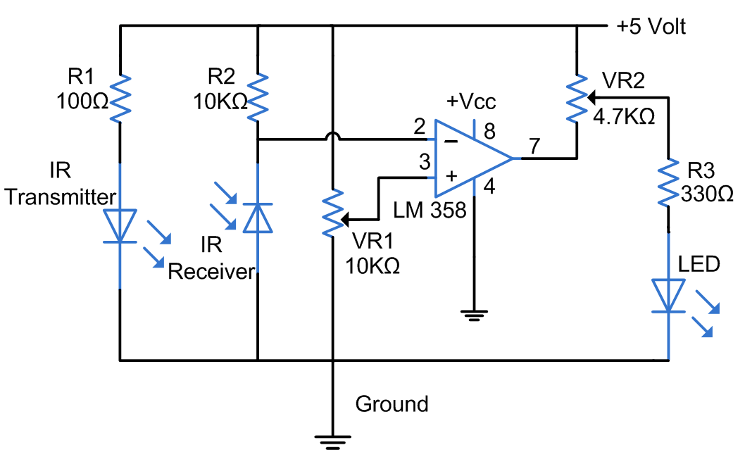 All About Ir Sensors on encoder circuit diagram